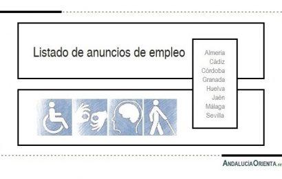 37 Ofertas de empleo preferentemente para personas con discapacidad (Andalucía)