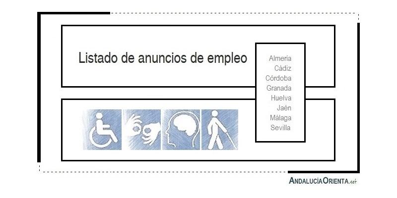 75 Ofertas de empleo preferentemente para personas con discapacidad (Andalucía)