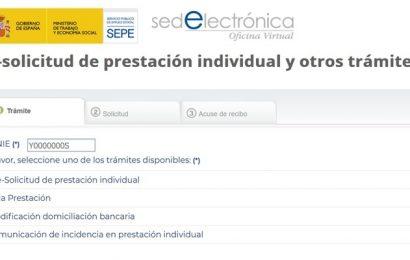 Nuevo formulario para solicitar Prestaciones por desempleo y otros trámites (SEPE)
