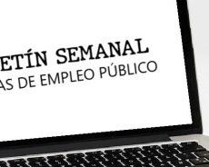 Empleo Público: Boletín de Ofertas del 2 al 8 de marzo de 2021