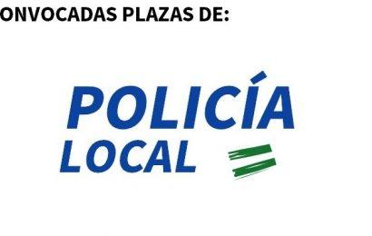 Convocadas 37 plazas de Policía local, para 12 Ayuntamientos de Andalucía