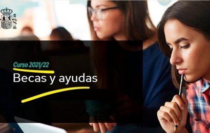 Convocadas las Becas para el curso 2021-2022 (Ministerio de Educación y Formación Profesional)