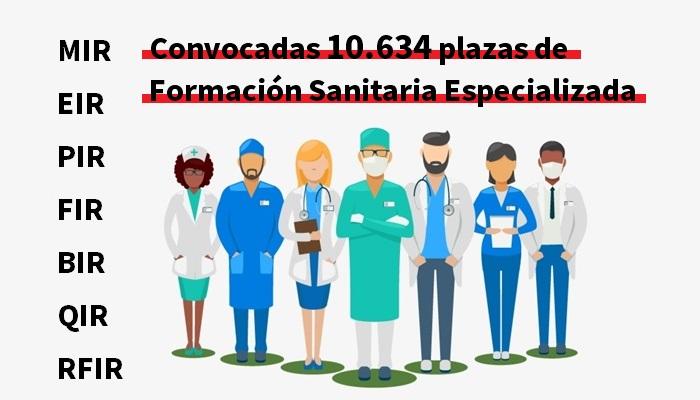 Convocadas 10.634 plazas de acceso a formación sanitaria especializada (MIR, PIR, FIR…)